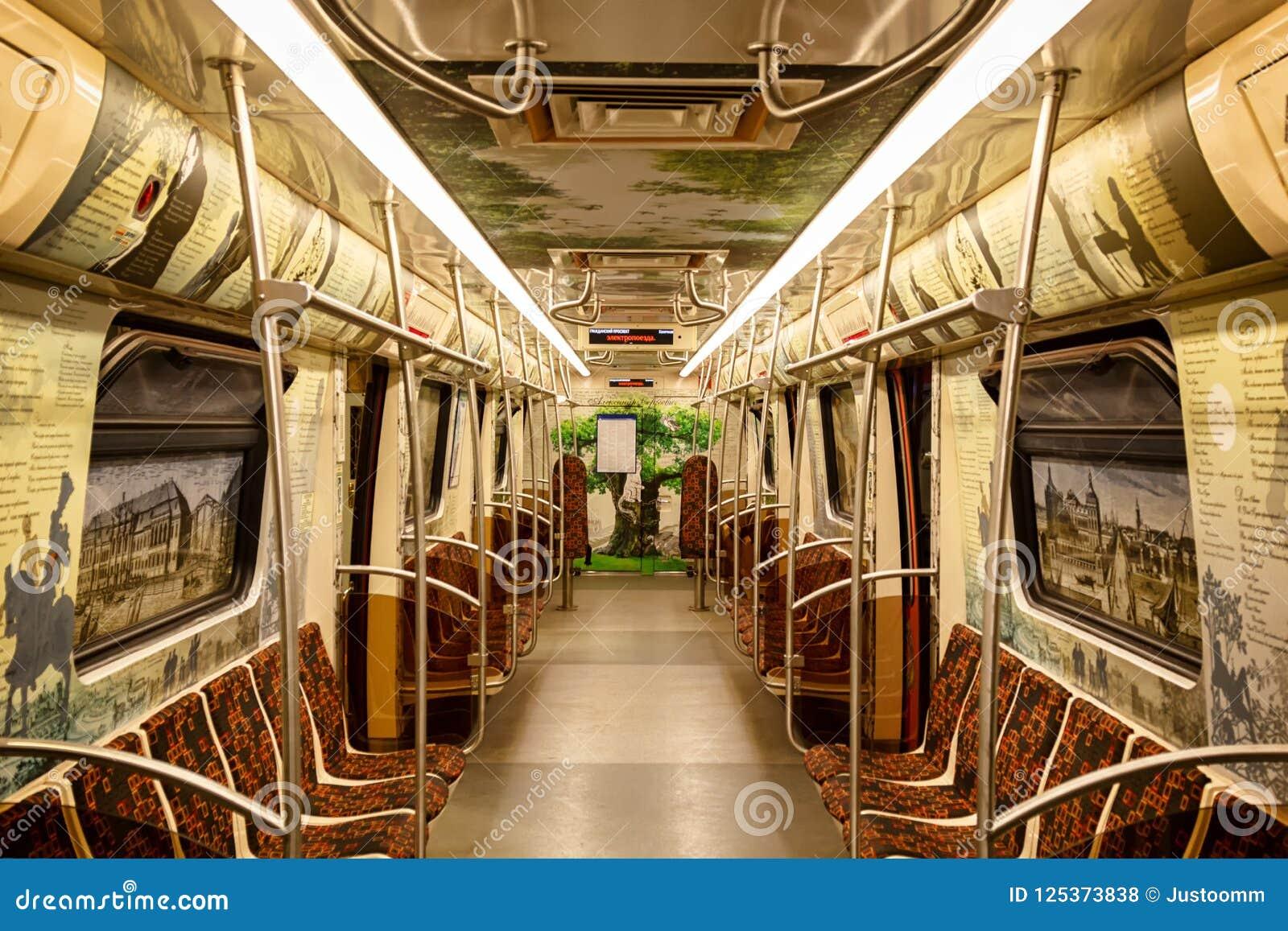 Citaten Uit Literatuur : St. petersburg rusland juli 28 2018: literaire trein metroauto