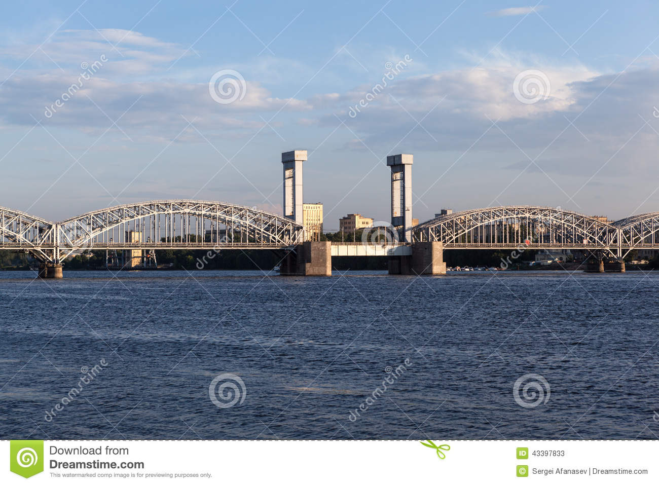 St  Petersburg  Russia  Finland Railway Bridge  Stock Image