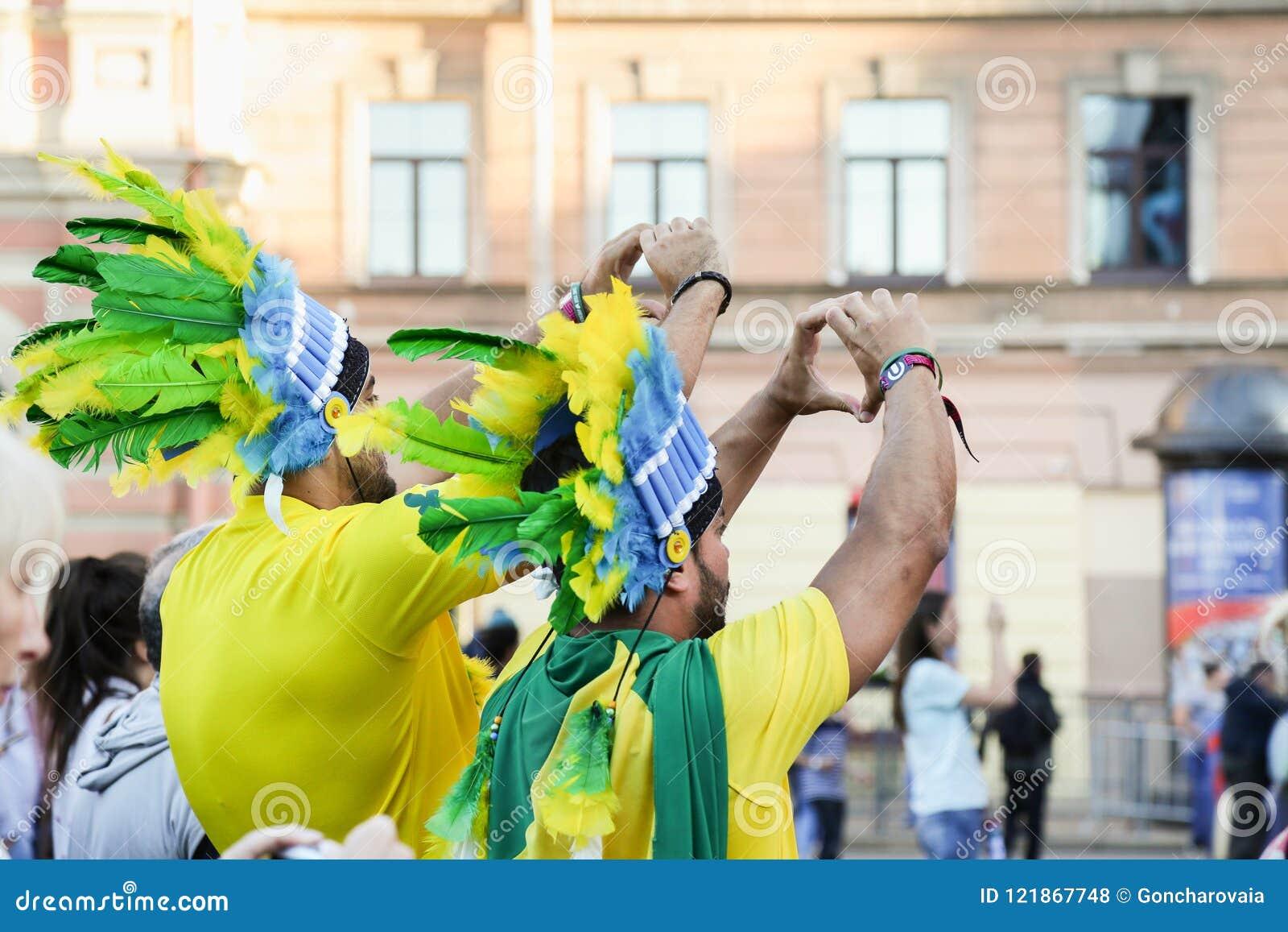 Brazilian soccer fans at FIFA World Cup.