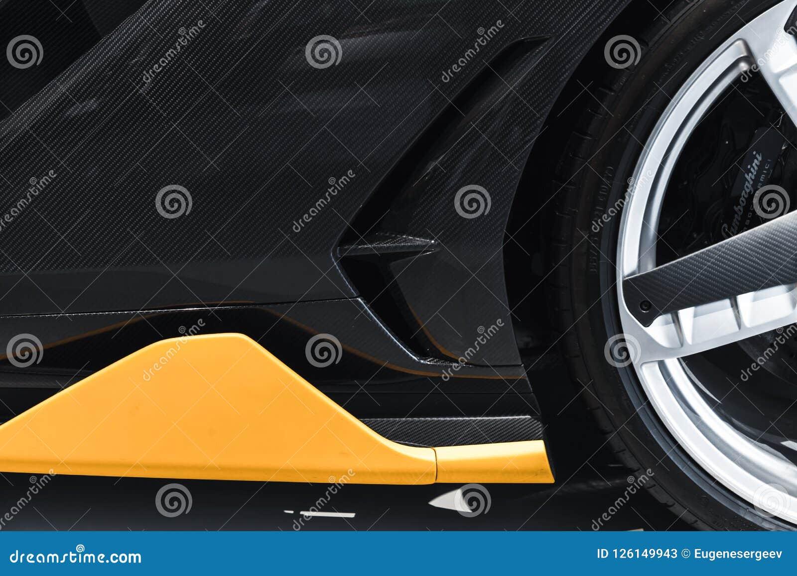 Lamborghini Centenario Sports Car Fragment Editorial Stock