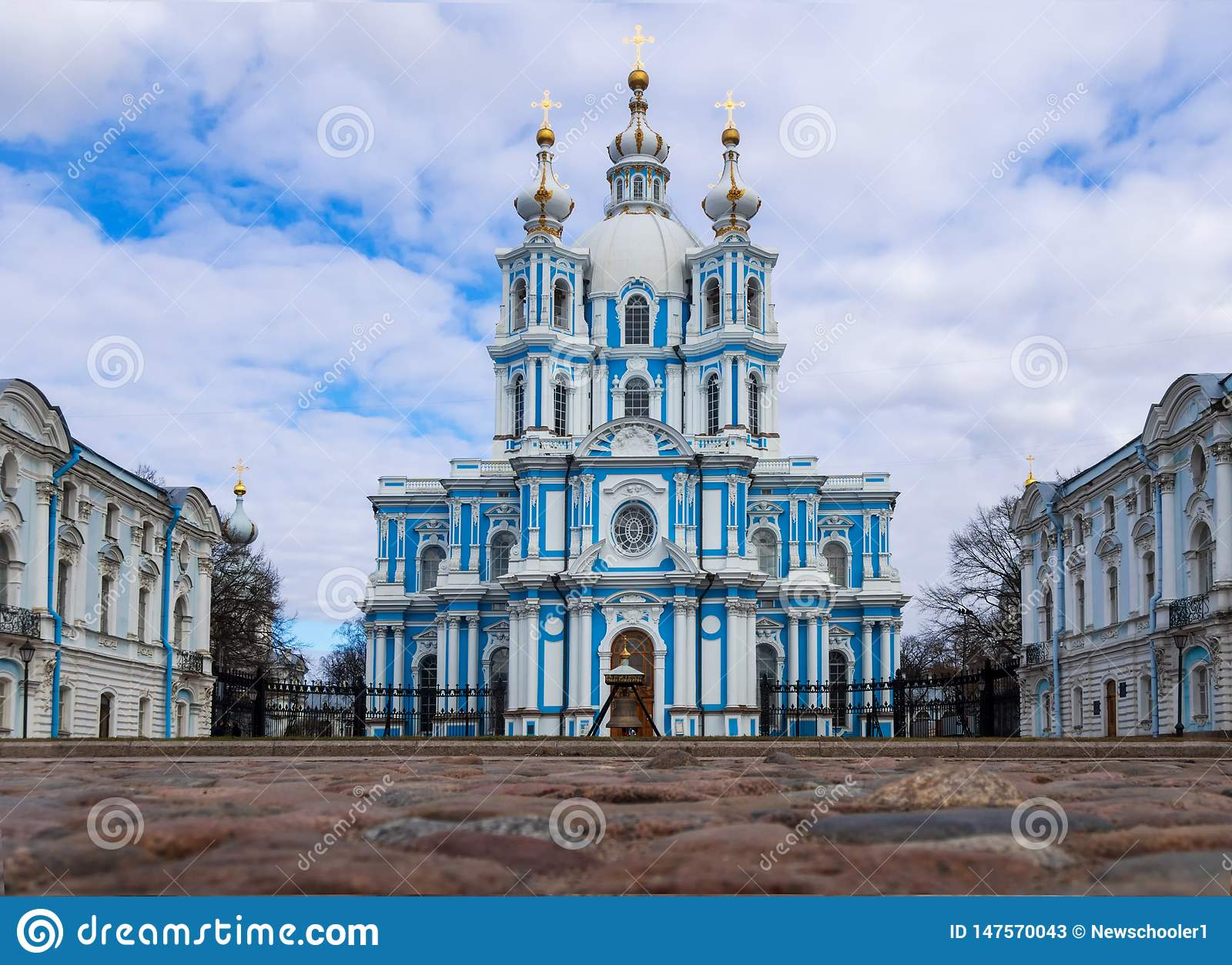 St. Petersburg, Russia, 2019-04-13: Smolny Cathedral