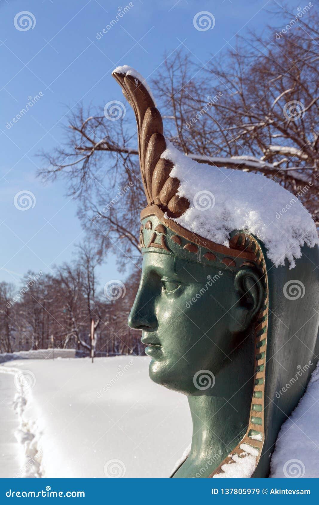 ST PETERSBURG, RUSSIE - 24 janvier 2019 : Sphinx sur Malaya Nevka