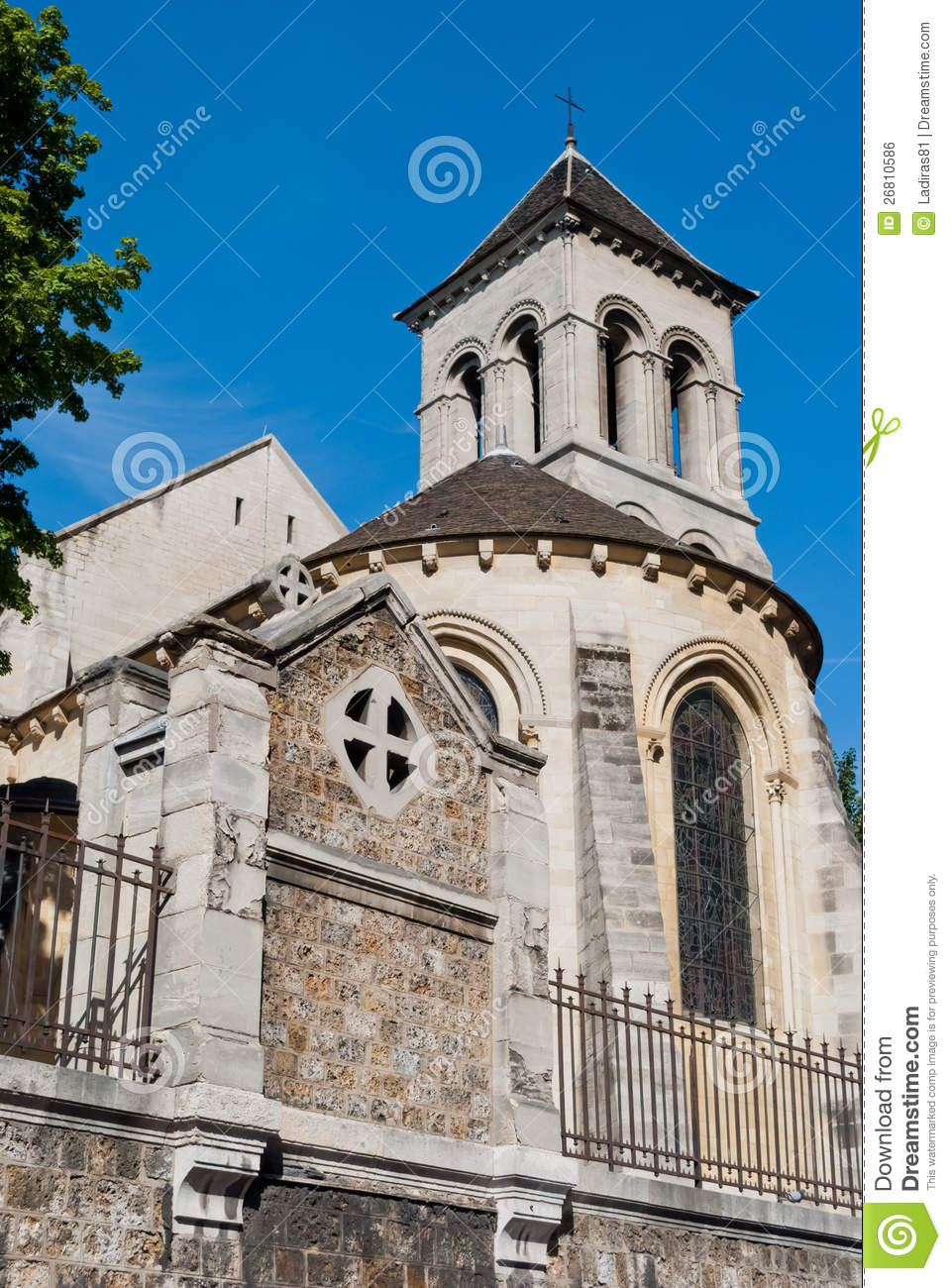 St pierre de montmartre old church paris royalty free stock image image 2 - St pierre de montmartre ...