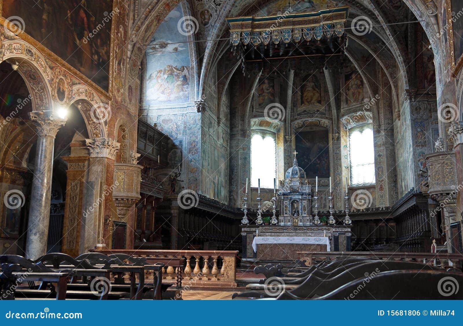St. Pietro Basilica Interior. Perugia. Umbria.