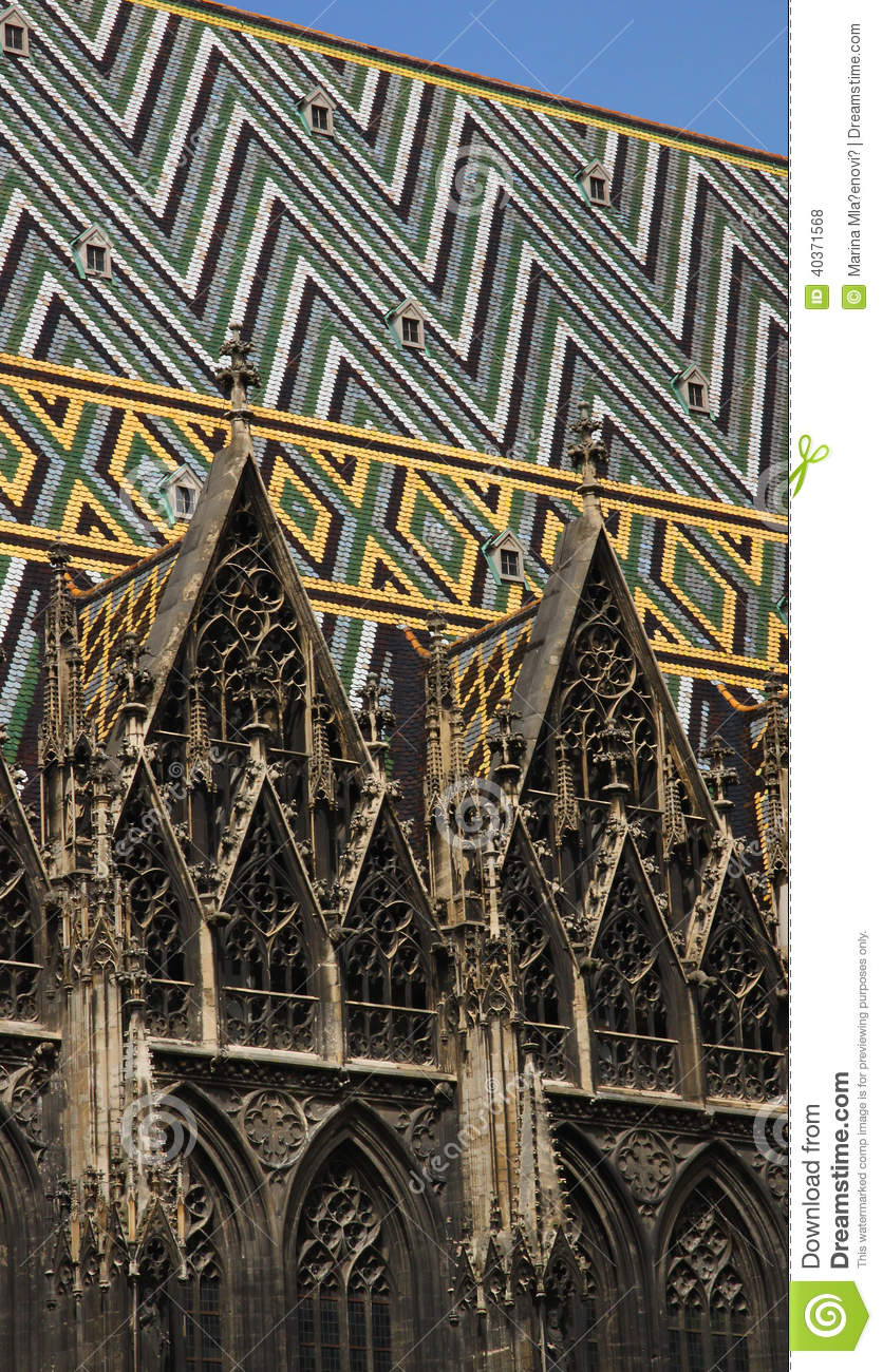 St Stephens Cathedral Vienna Detail Stock Photo Image Of