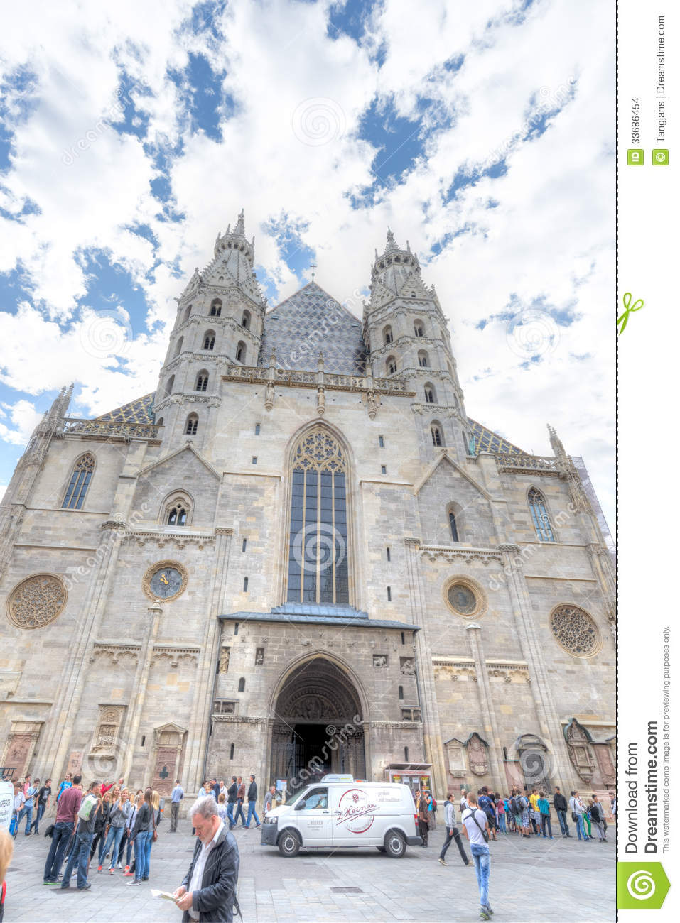 St Stephen S Cathedral Vienna Editorial Stock Image