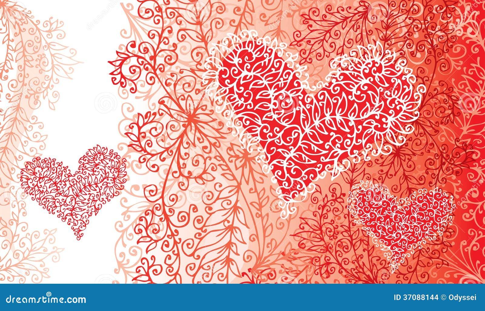 Download St.Valentine Miłości Serca Czerwona Karta Ilustracja Wektor - Ilustracja złożonej z wakacje, papier: 37088144