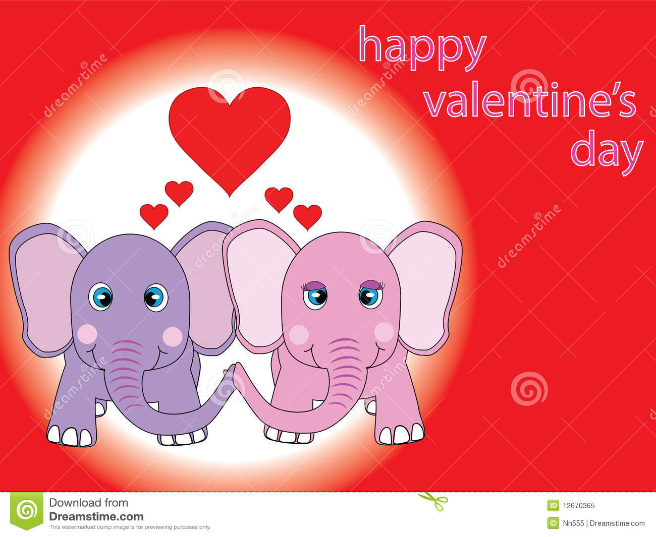 Stvalentines Card Royalty Free Photo Image 12670365 – Elephant Valentines Card