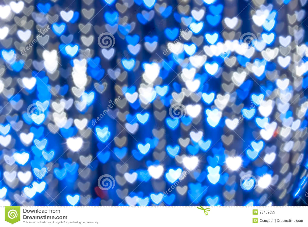 St Valentines Day Blue Heart Background Stock