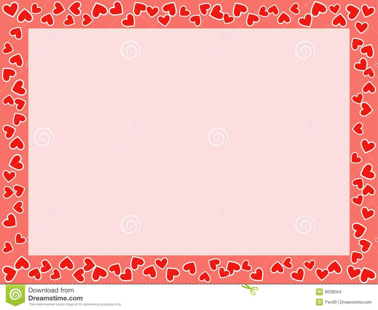 Stvalentines Day Frame Stock Illustration Illustration Of