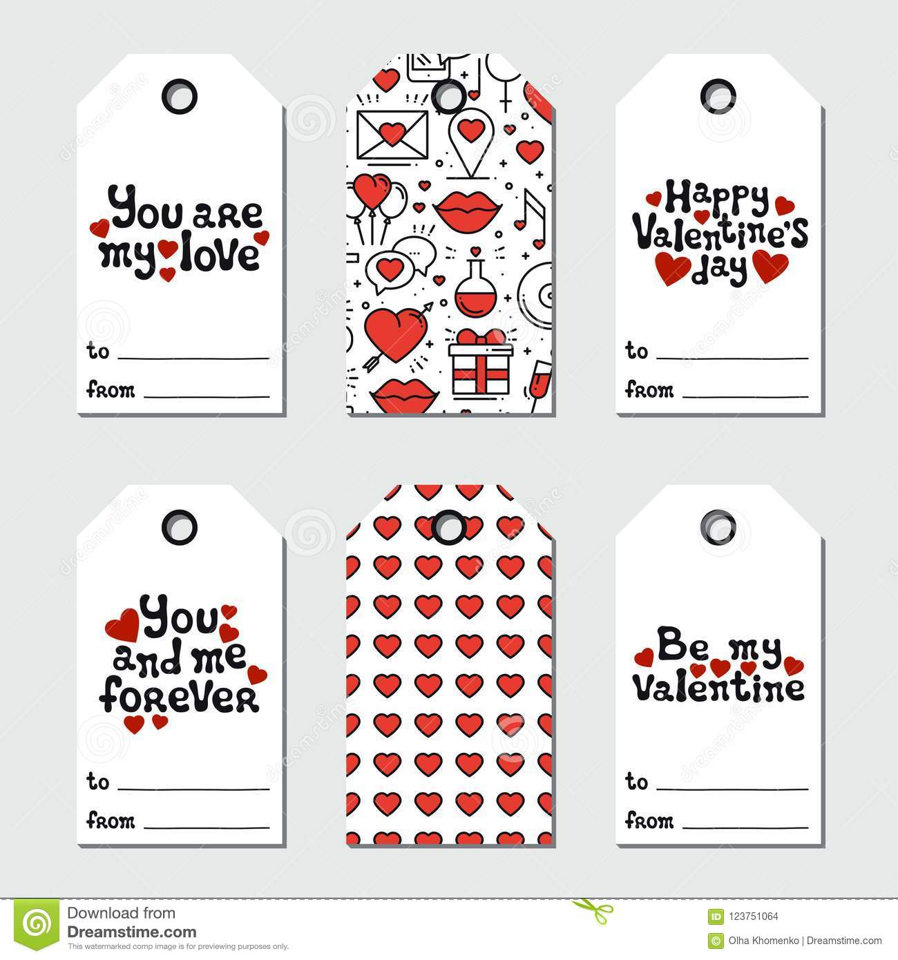 image regarding Holiday Tags Printable titled St Valentine`s Working day Present Tags. Printable Tags Selection