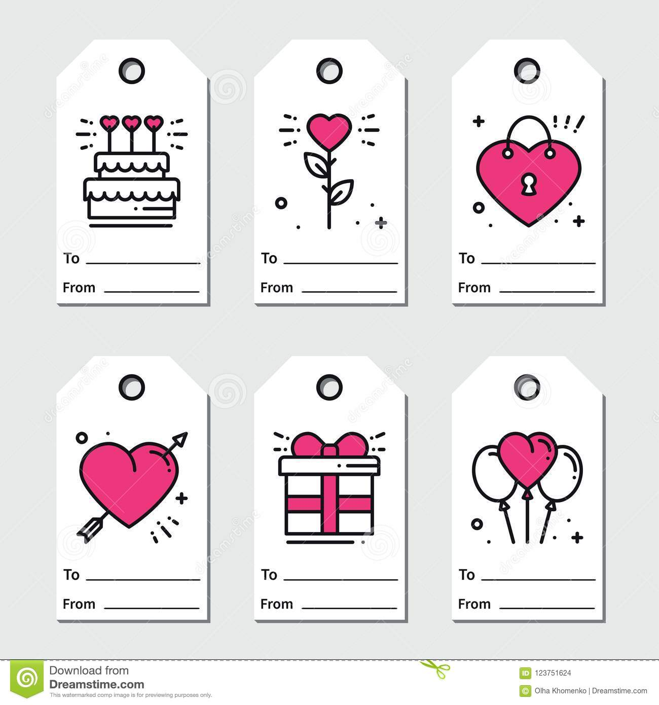 image regarding Valentine Labels Printable named St Valentine`s Working day Reward Tags. Printable Tags Assortment