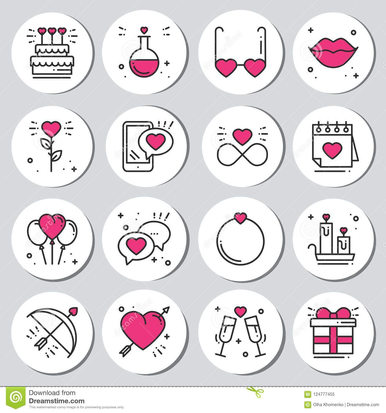 graphic relating to Valentine Stickers Printable named St Valentine`s Working day Spherical Printable Stickers Mounted. Passionate