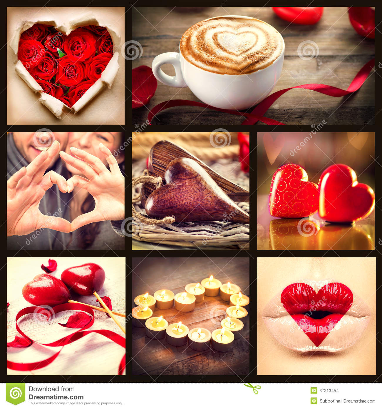 St. Valentines Day Collage Stock Images - Image: 37213454