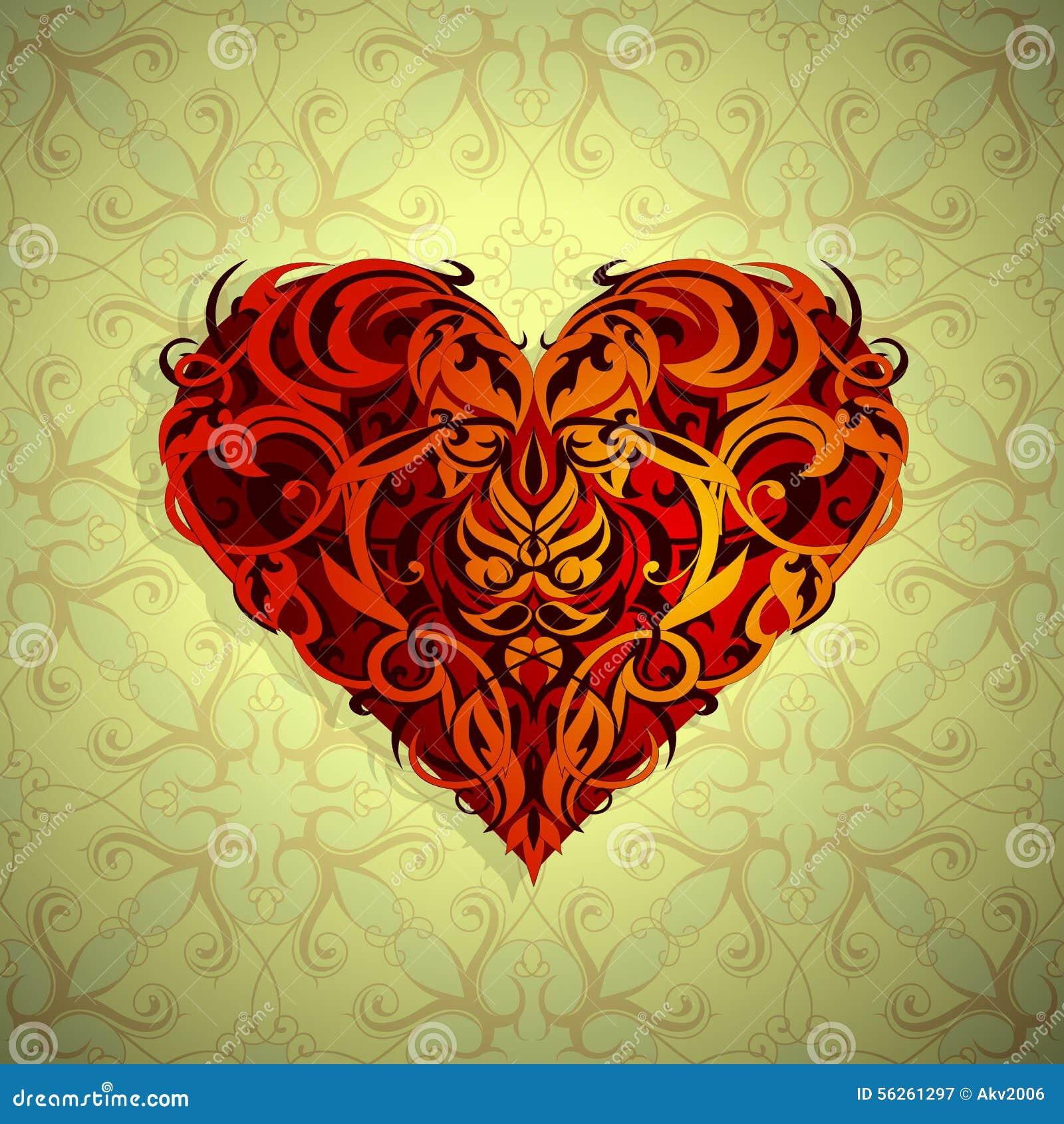 St Valentines Theme Heart Shape Stock Vector Illustration Of