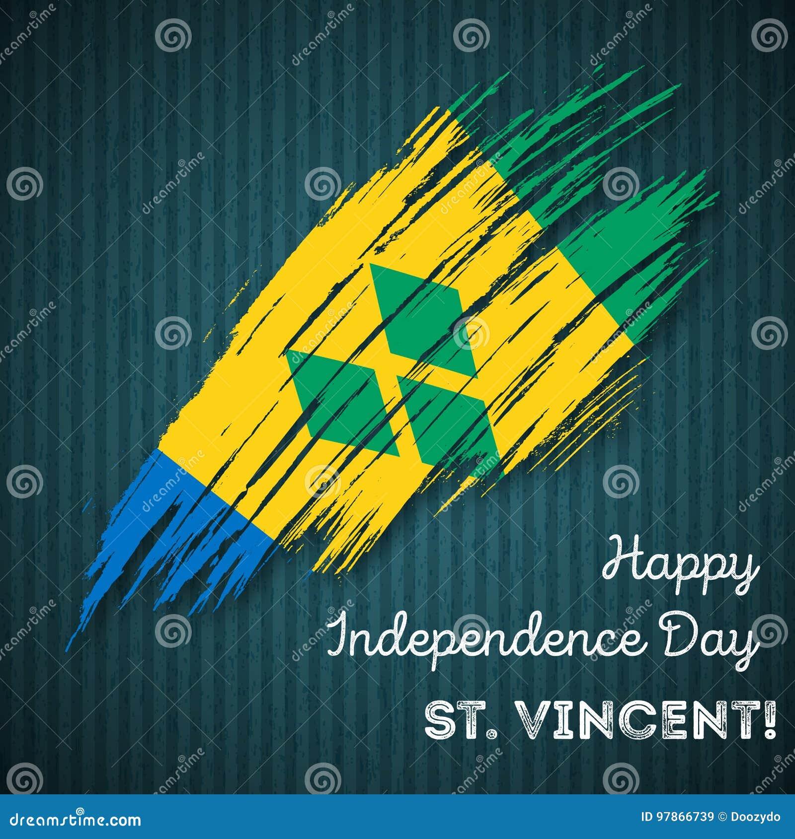 St  Vincent Independence Day Patriotic Design  Stock Vector