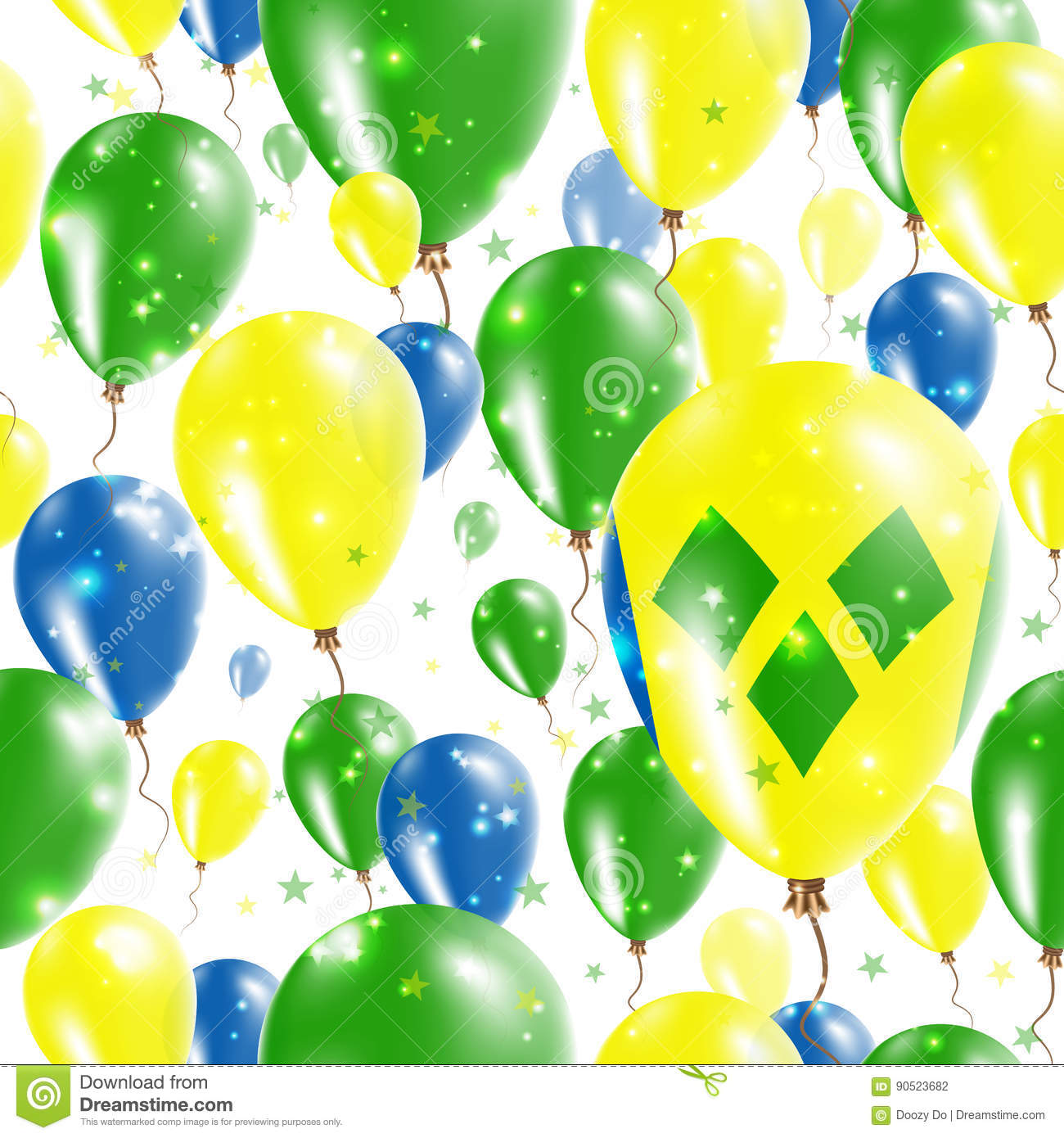 St  Vincent Independence Day Seamless Pattern  Stock Vector