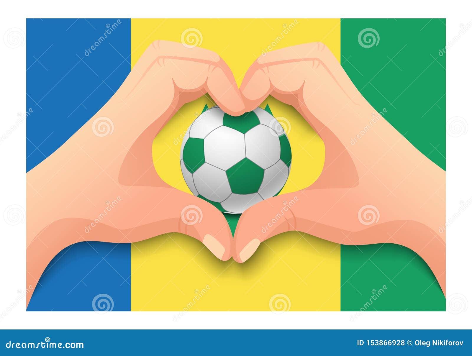 St. Vincent und die Grenadinen Fußball- und Handherzform