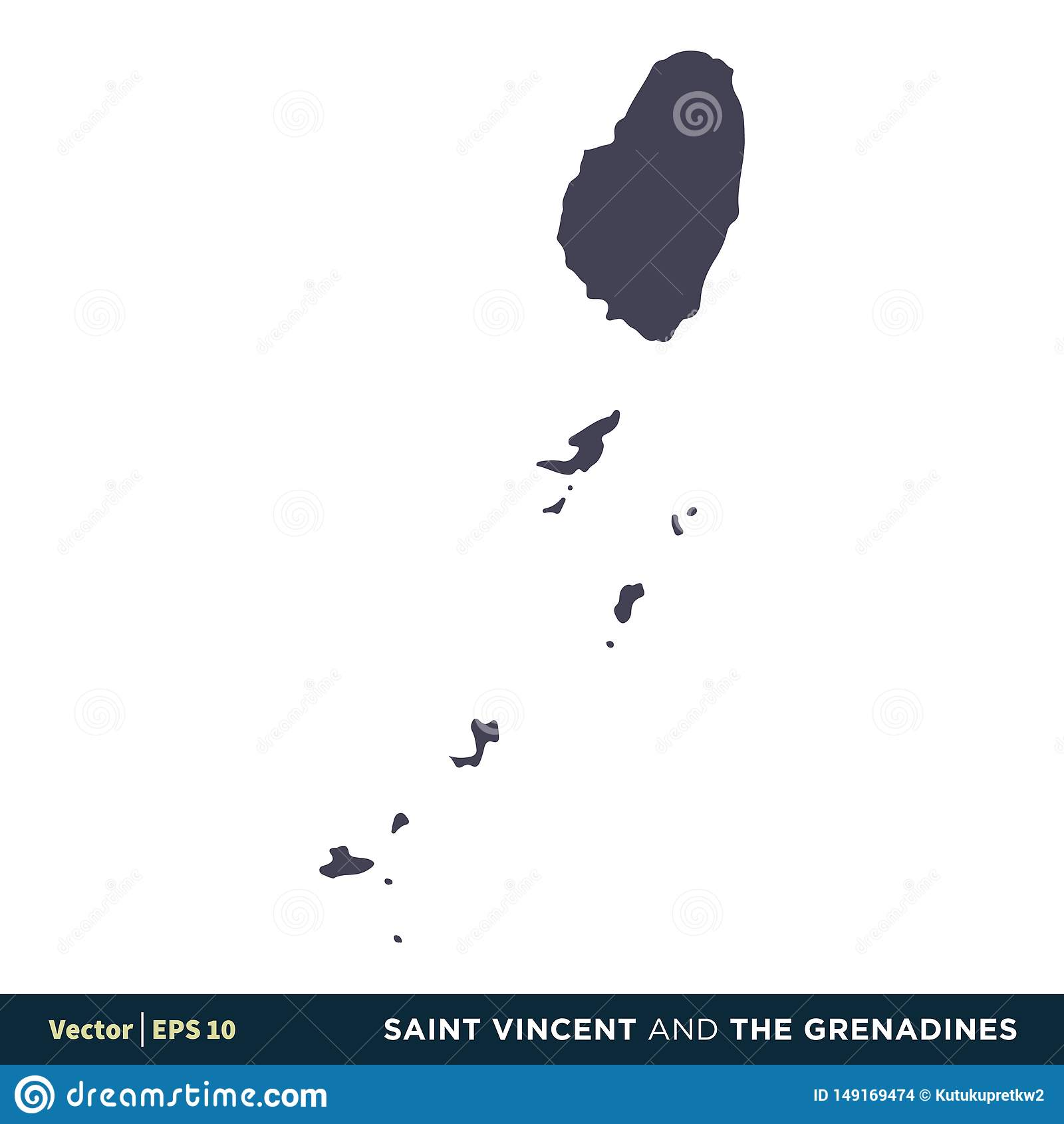 St. Vincent und die Grenadinen - Nordamerika-Länder zeichnen Ikonen-Vektor Logo Template Illustration Design auf Vektor ENV 10
