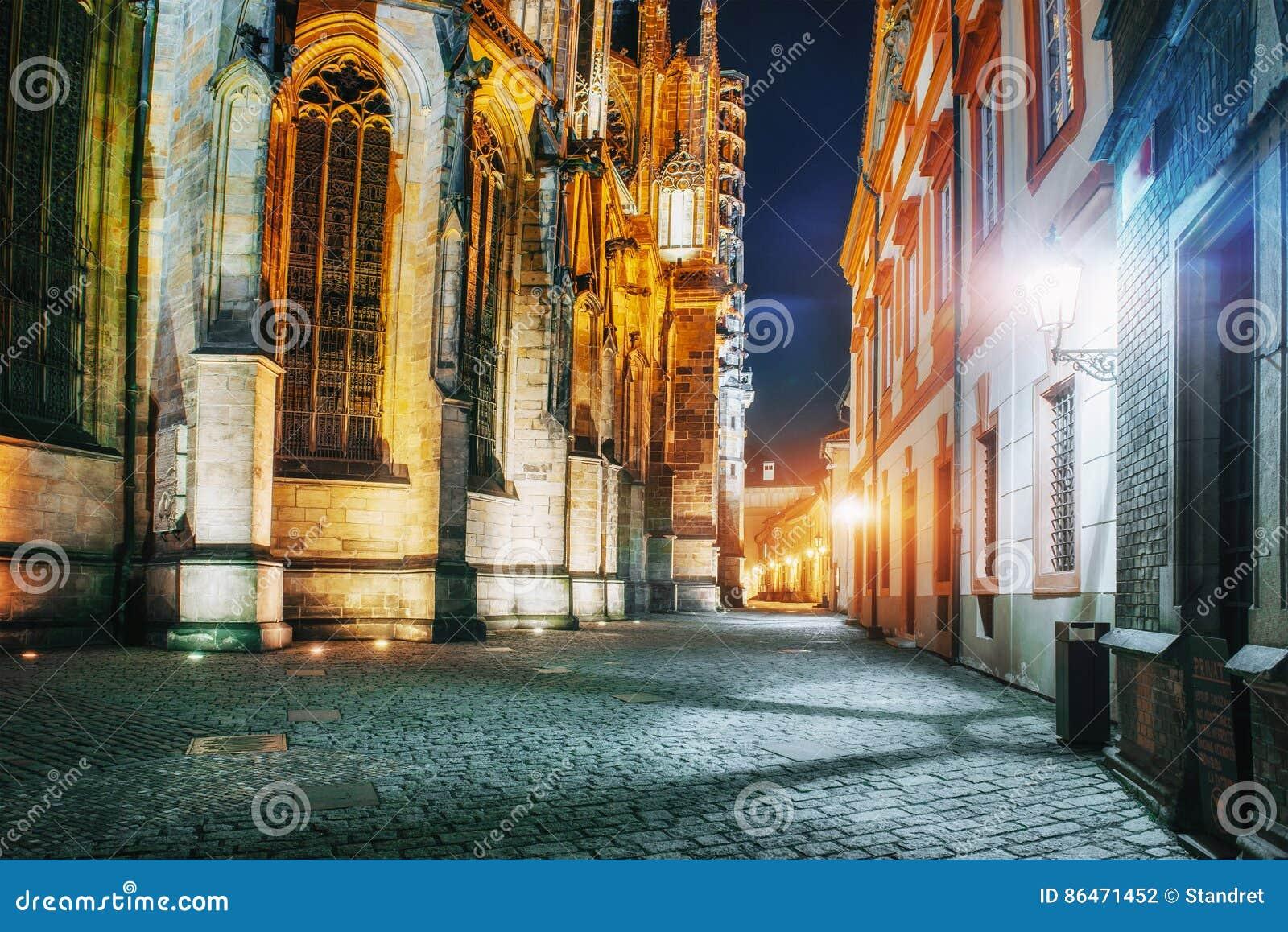 St Vitus Cathedral au château de Prague dans beau