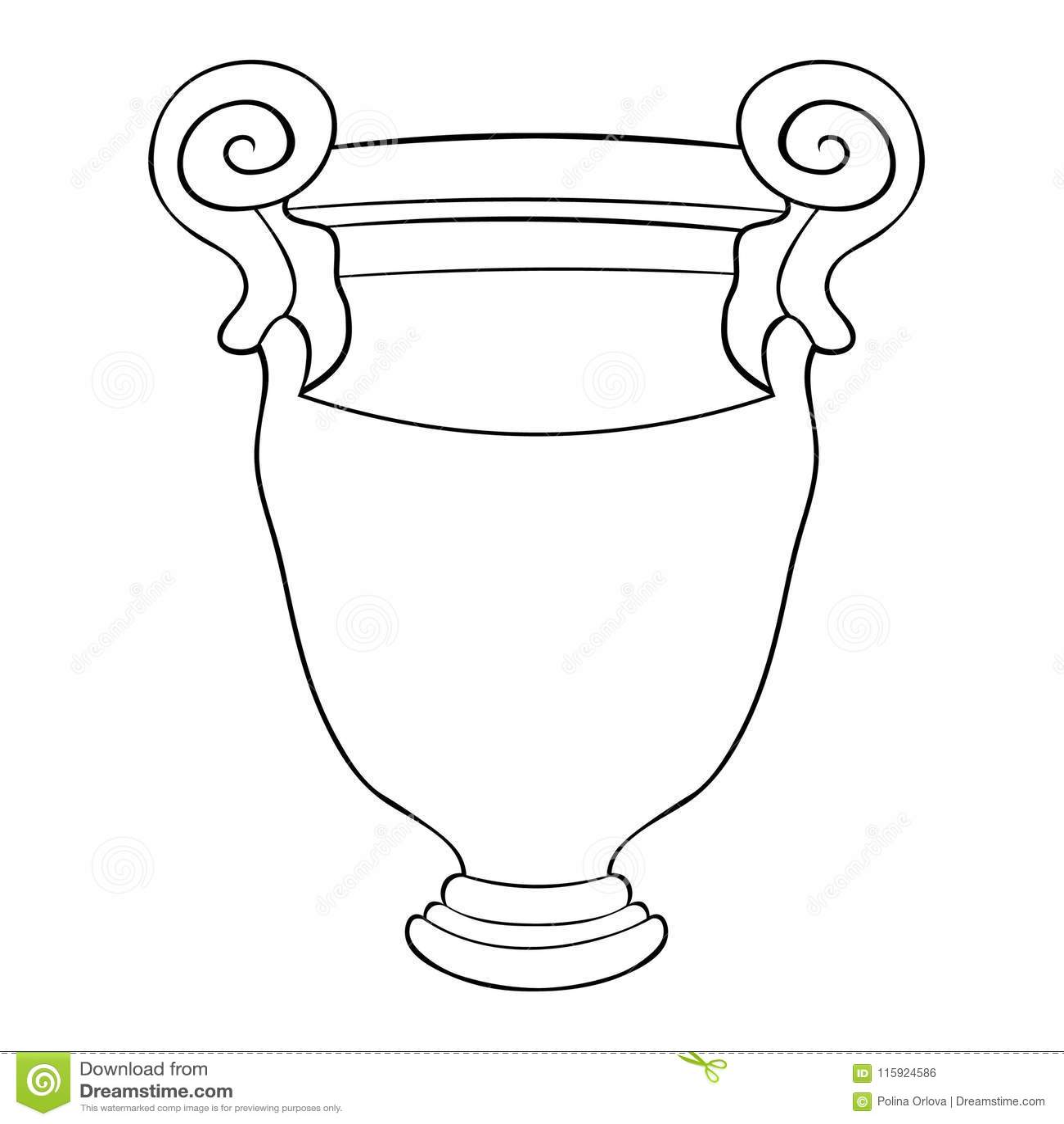Vasi Greci Da Colorare.Sta Colorando L Illustrazione Greca Di Vettore Del Vaso