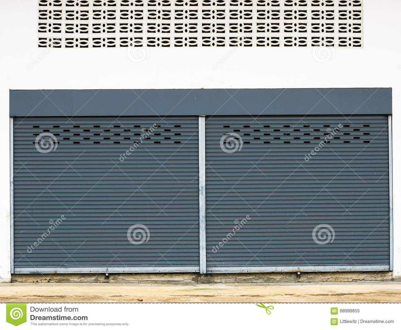 Plank Muur Blind.Staal Rollend Blind Stock Afbeelding Afbeelding Bestaande Uit