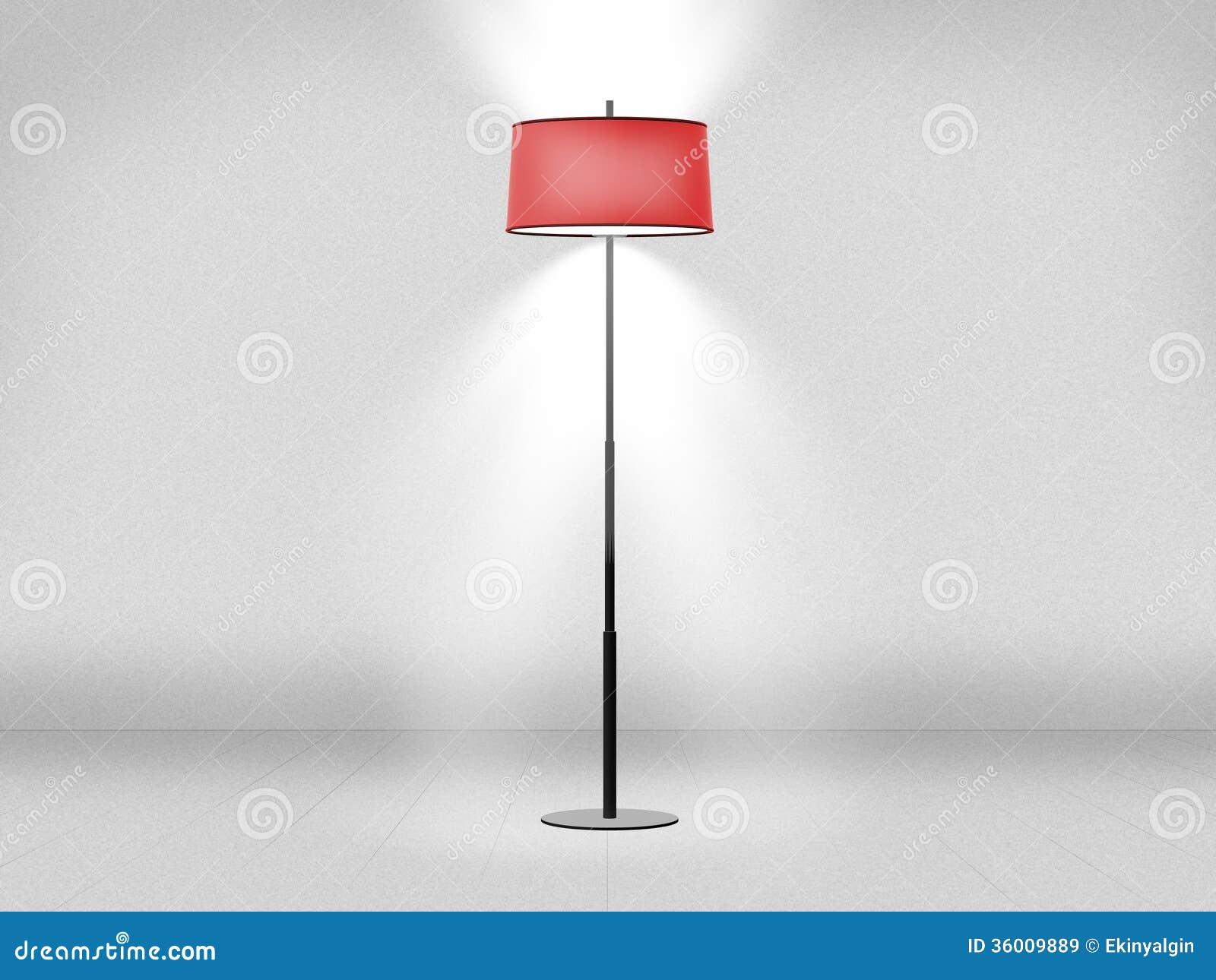 Staande lamp tegen muur stock illustratie illustratie bestaande