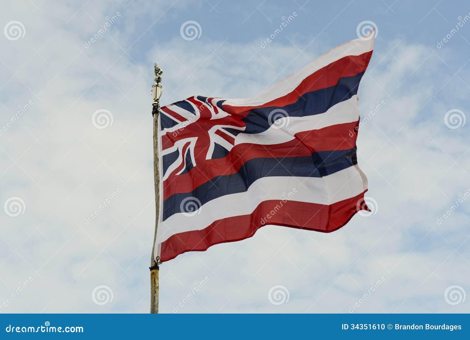 Staat Hawaiis-Flagge