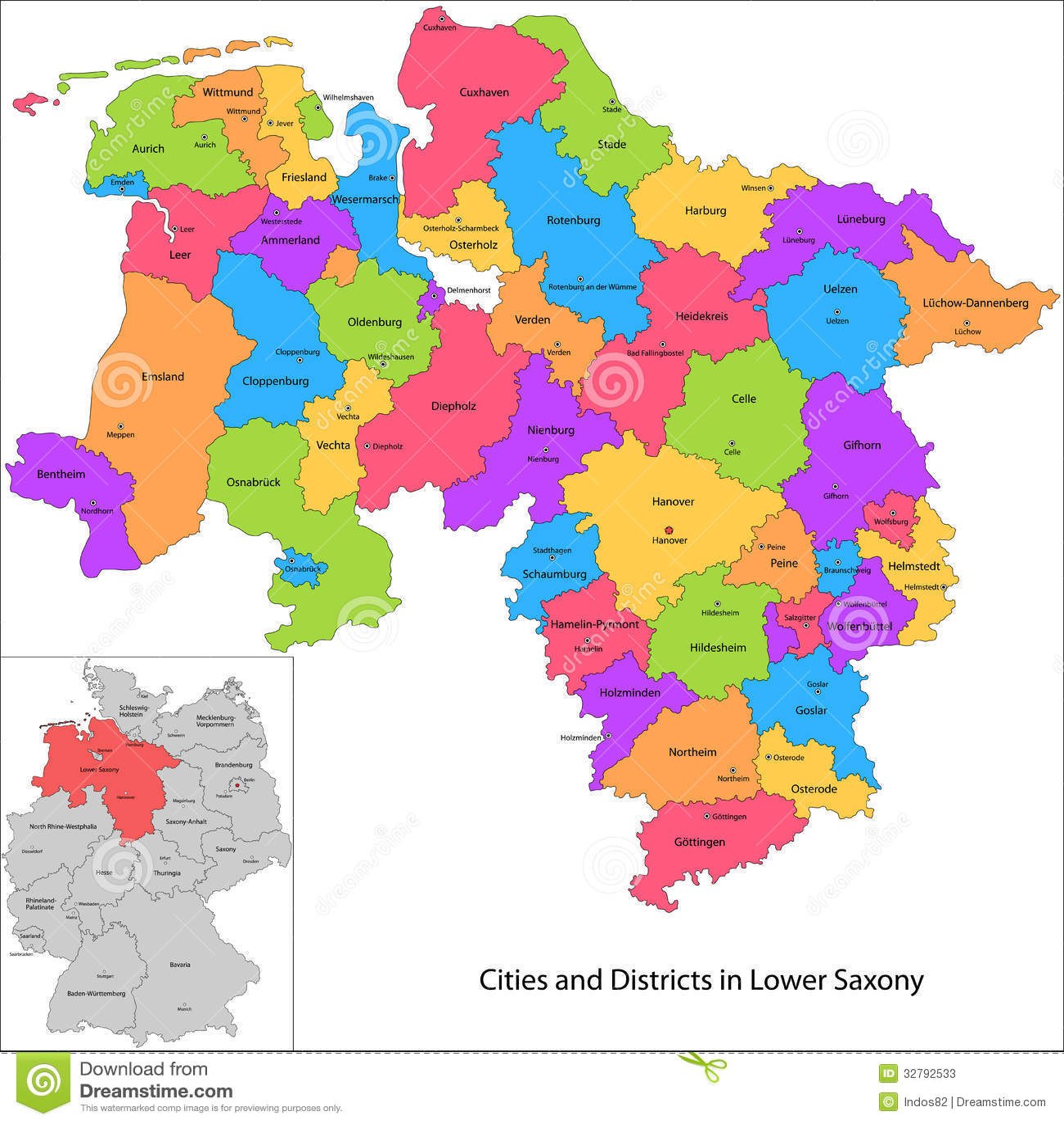 Staat Von Deutschland Niedersachsen Vektor Abbildung