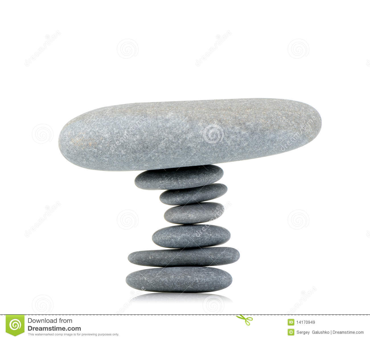 Stability. A construction from a pebble. It is isolated on a white ...