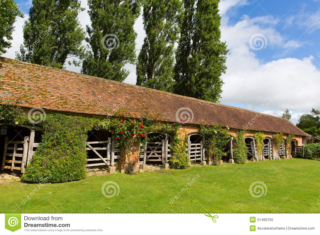 Stable Block Barrington Court Near Ilminster Somerset England Uk ...