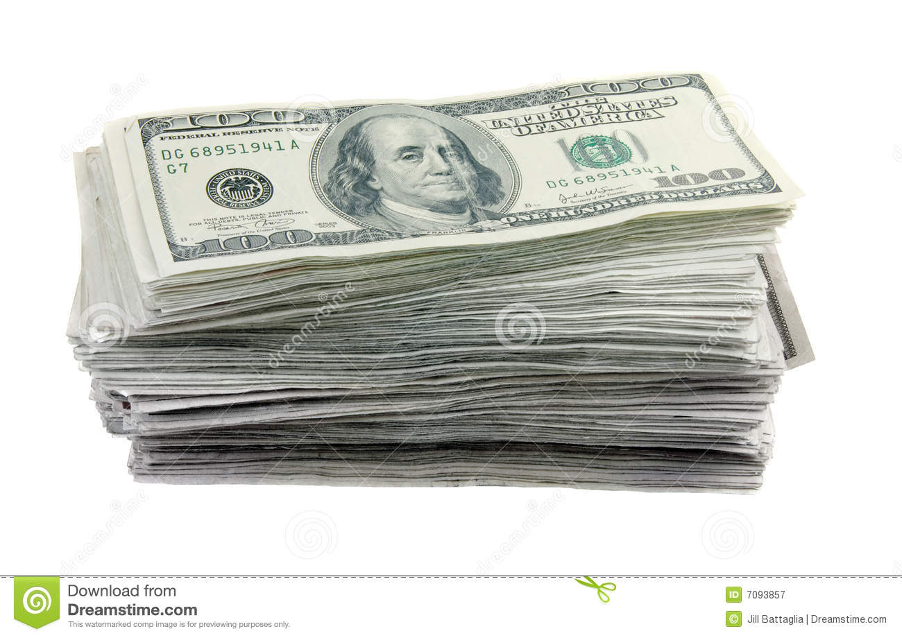 Stack Of 100 Dollar Bills Royalty Free Stock Photography ... - photo#38