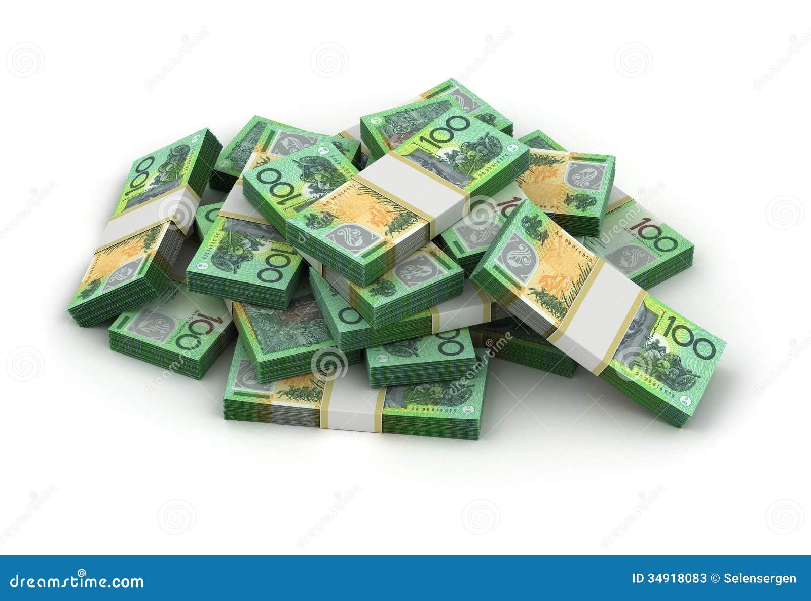 Stack Of Australian Dollar Stock Photos - Image: 34918083