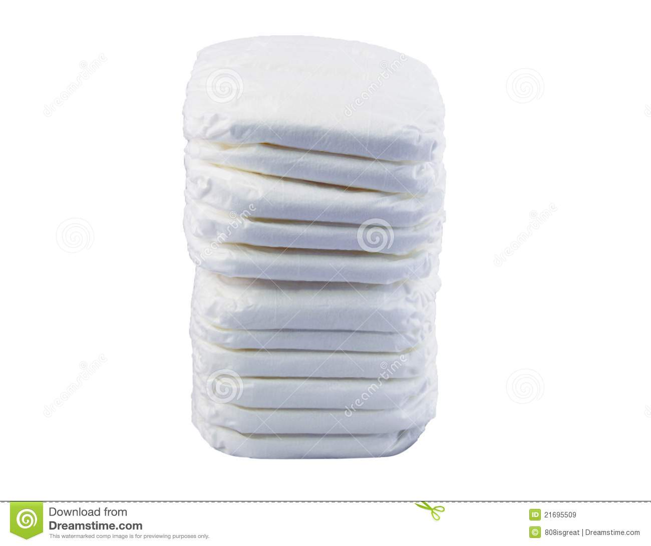 Stack Of Baby Diapers Royalty Free Stock Images Image