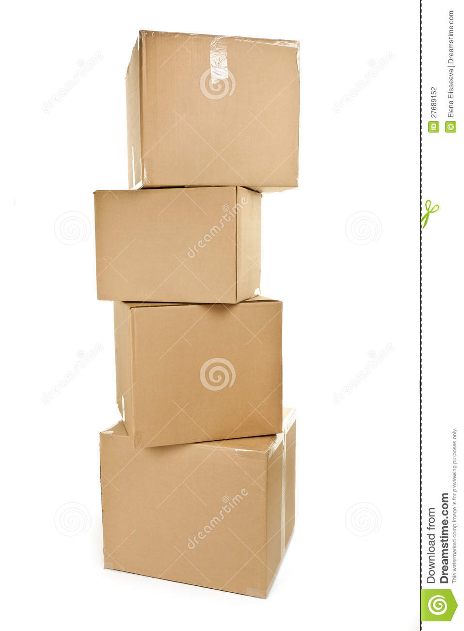 Stack Of Big Cardboard Boxes Stock Photography - Image: 27689152