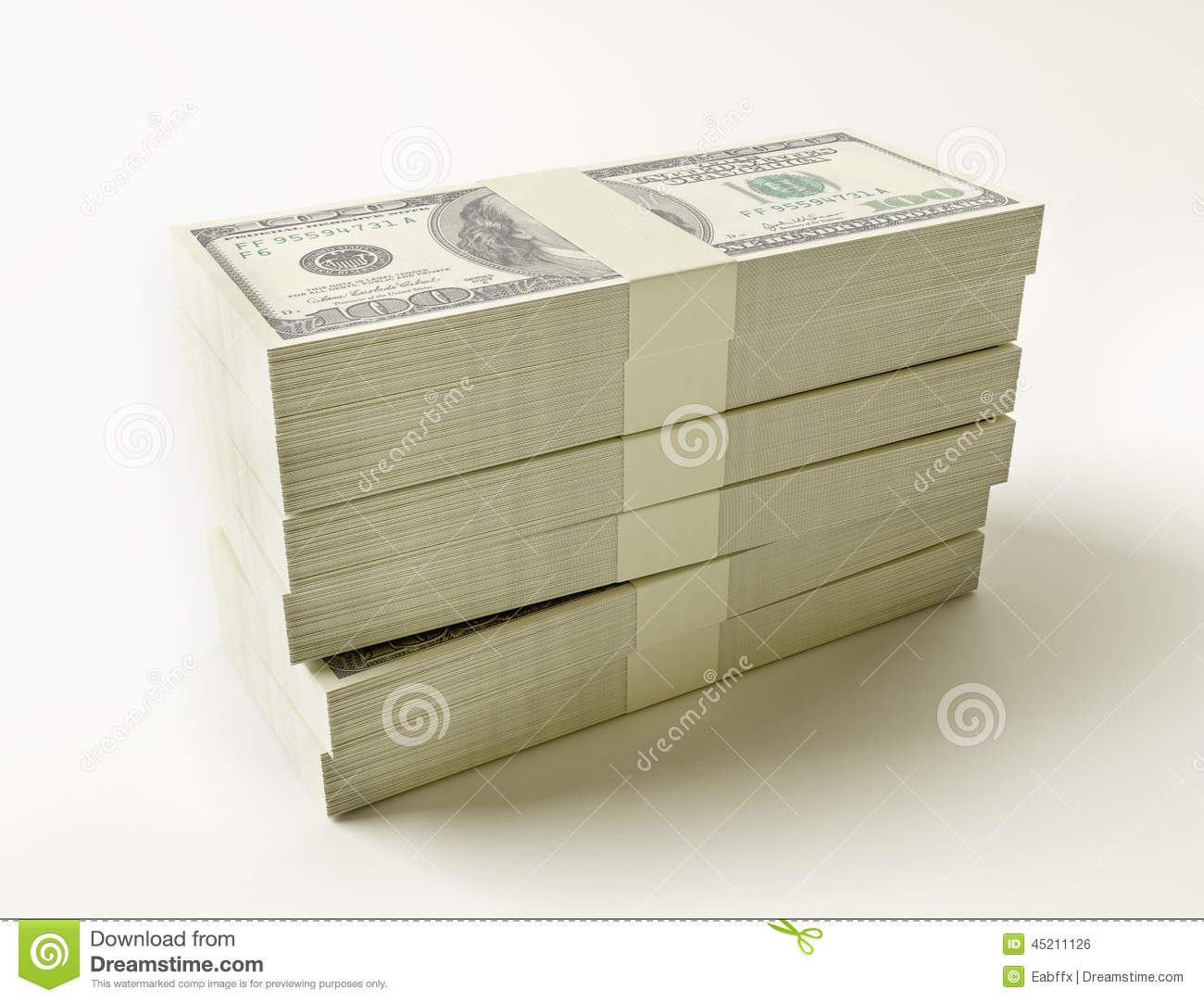 Stack Of $100 B... $100 Bill Stack