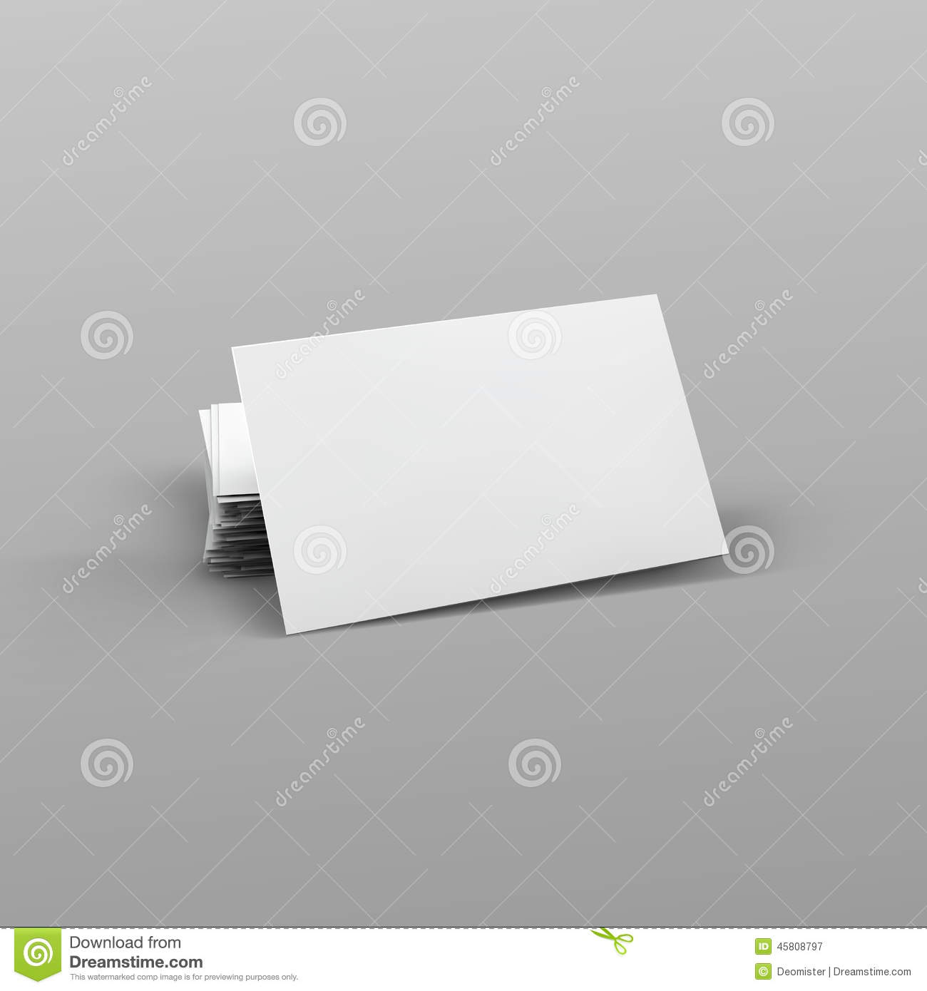 Stack of blank business card stock vector illustration of office stack of blank business card royalty free vector reheart Images