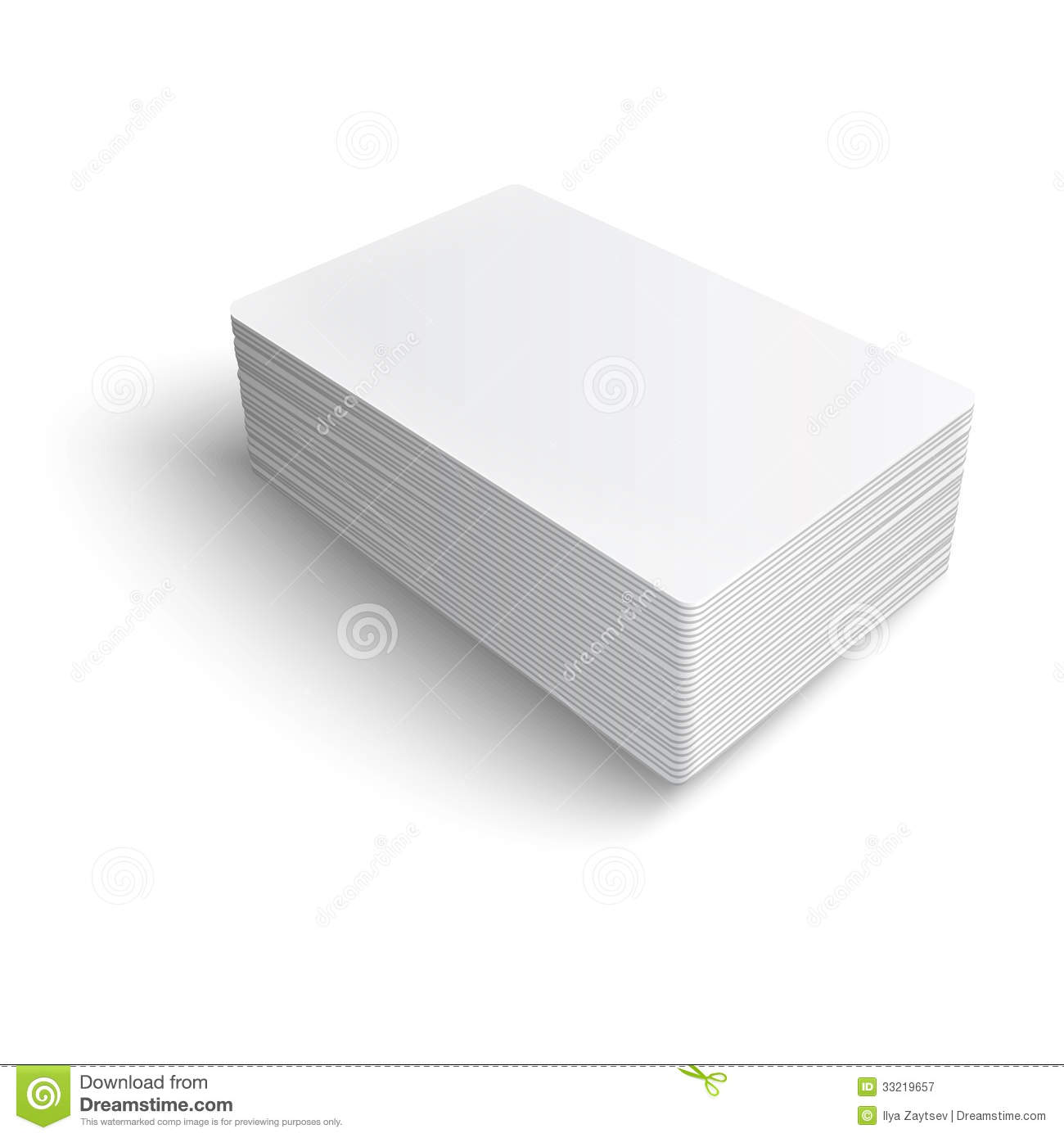 Stack Blank Business Card Royalty Free Stock