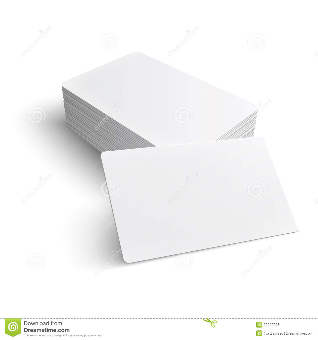 Stack Of Blank Business Card. Stock Vector - Illustration of ...