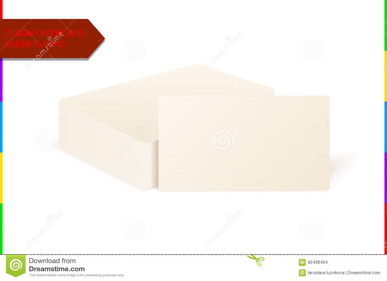 Download Stack Of Blank Design Cardboard Texture Business Card On White Background With Soft Shadows Stock