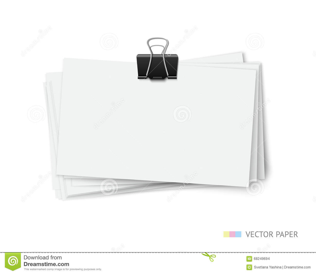 Stack of blank white business cards stock vector illustration of download comp reheart Images