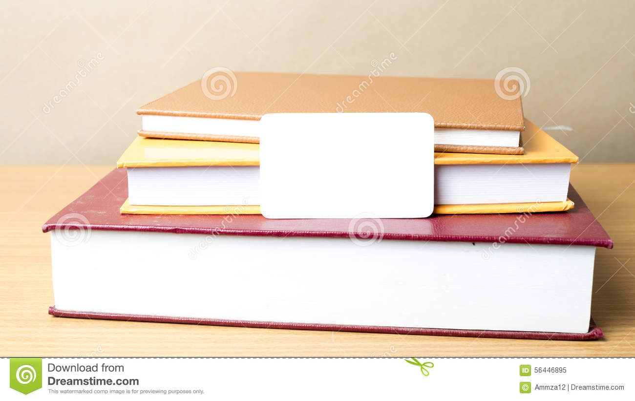 Stack Of Book And Business Card Stock Image - Image of template ...