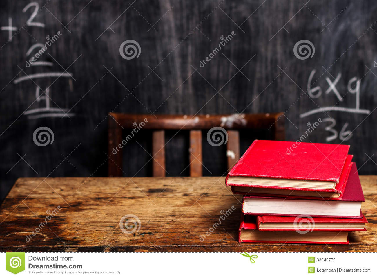 books on school desk with School Desk Background