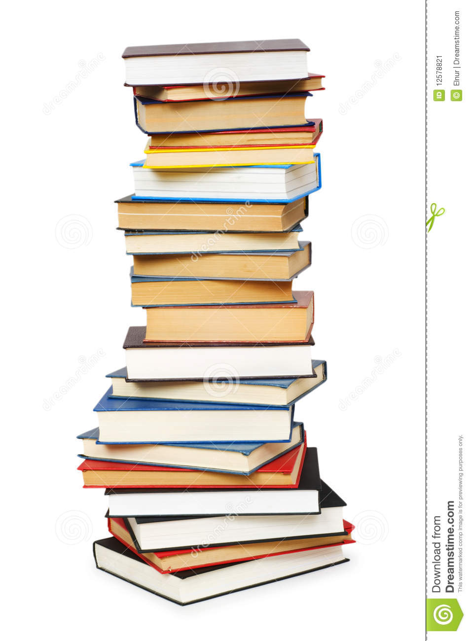 stack of books isolated stock image image 12578821