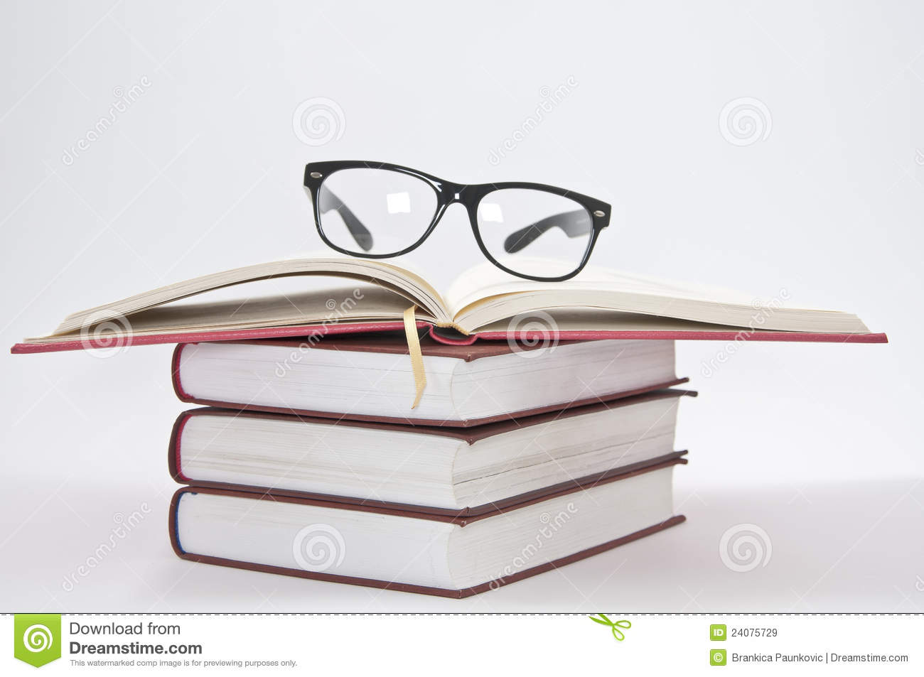 glasses on book - photo #12