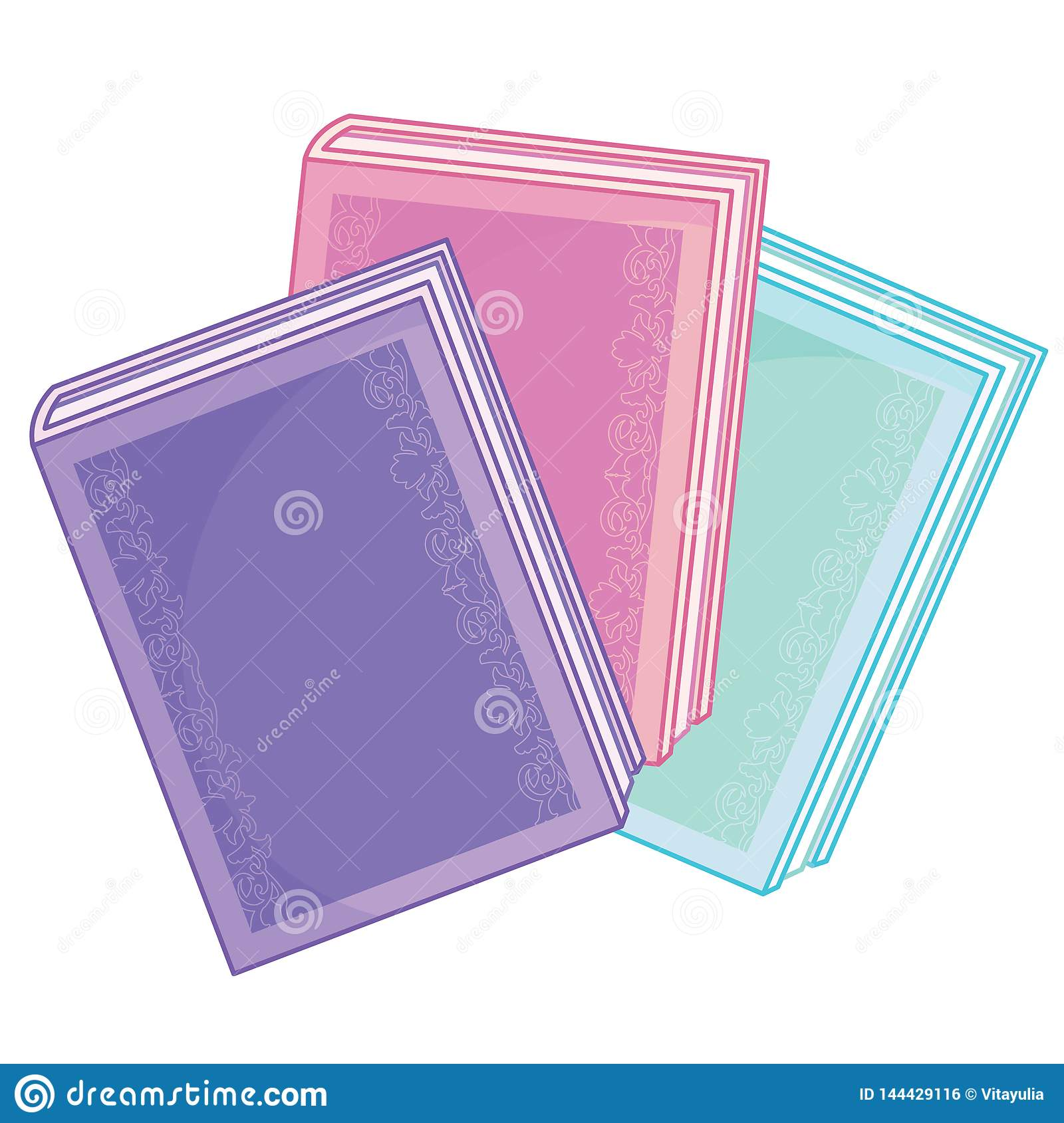 Stack Of Books Magic Cartoon Stock Vector - Illustration of