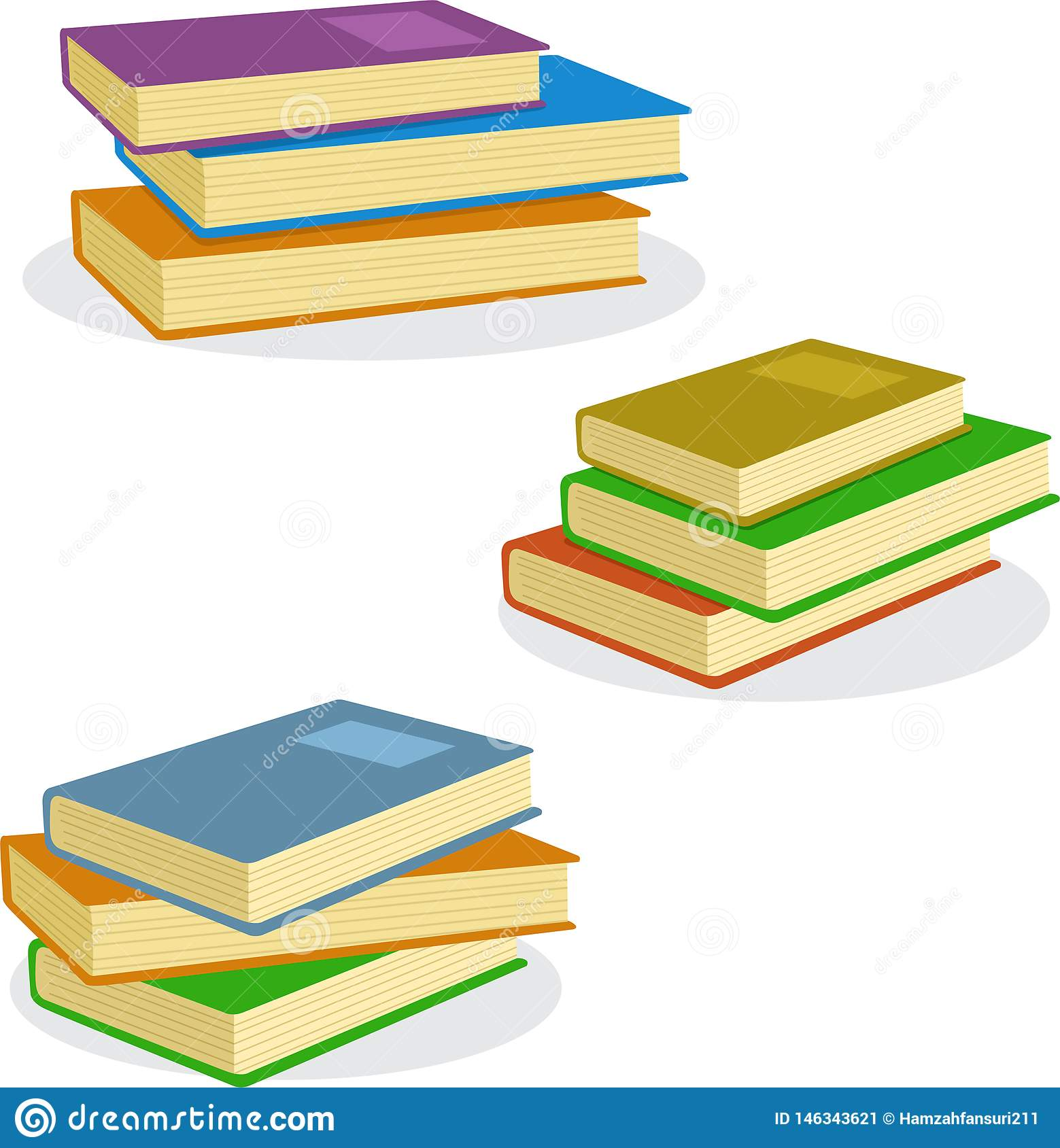 Stack of Books Vector Illustration Icon