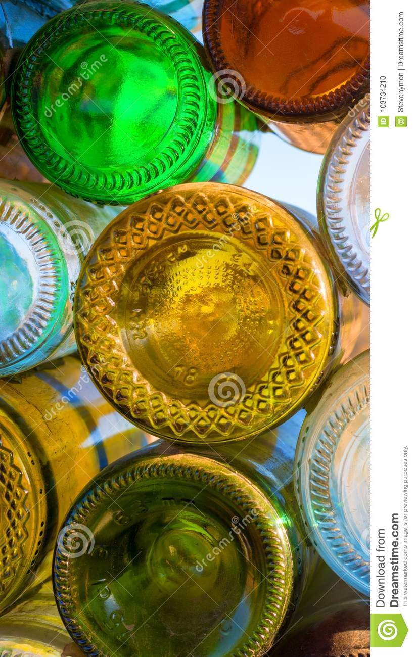 Colorful Soda And Beer Bottles Wall Art For Smartphone Stock Photo ...
