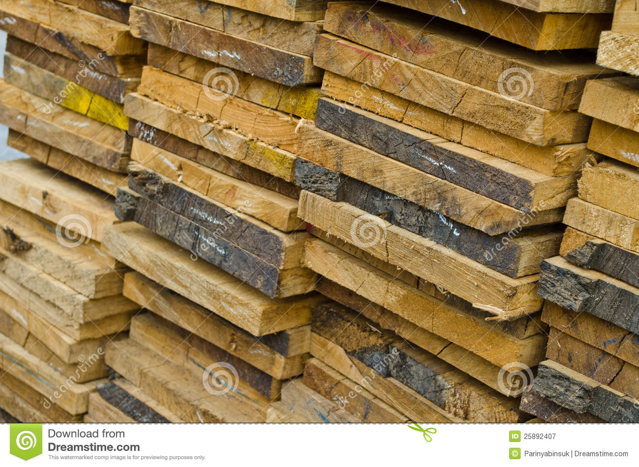 Stack of building lumber royalty free stock photography