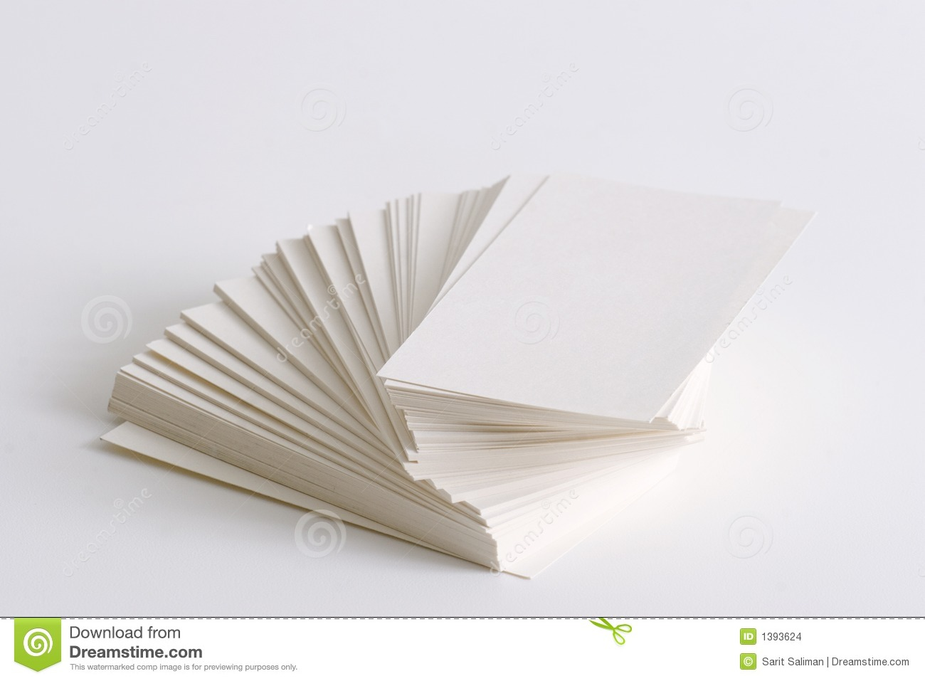 Stack Of Business Cards Stock Images - Image: 1393624